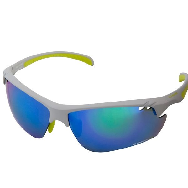 Cycling Eyewear , Sunglasses Lenses: Superior quality lenses – Multi coloured lens for various weather conditions. Maximum UV protection Optically superior Impact and scratch resistant Anti reflective coating Upper side vision optimisation Extended field of view Vented points for cooling and prevents lens fogging Frames:Durable and lightweight frames made from PC and TR90 frame material Modern styling Engineered excellence Anti slip nose pads and temple tips allow for firm and comfortable grip
