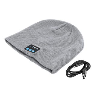 The Future of Headwear In the future, all of our beanies will double as headphones, all of our headphones will double as head-warmers. Listen to your favorite tunes or make/receive calls while walking to work, hitting the slopes, going for a run or just chilling out The Bluetooth Beanie is a simple concept. Push the beanie's sole button to connect to your phone's Bluetooth. Play music or answer your phone and hear it amplified through two small plastic speakers that align with your ears. The sound is pretty impressive: It's clear, quiet and above both wireless & hands free! You can make/receive phone calls through the beanie as well all without being frustrated by miles of cables strewn around the place. It`s a Beanie with built-in Bluetooth headphones with Sound discs sewn into the beanie over your ears so there are no dangling wires . All you need to do is Sync your beanie to any Bluetooth enabled device