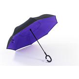 New Era of Umbrella awaits                                                     An innovative new umbrella design that is Simple, Stylish & ultra Convenient                 Welcome to a new era of umbrellas - Keep dry while getting in and out of your car Simply push upwards to open, just like a conventional umbrella The Inverted Umbrella folds inside out as you open it Then elegantly folds out and locks into the shape of classic stylish umbrella Minimise getting wet while exitingand entering your car, as the wet surface folds away inside the umbrella                                                                        No need to leave your umbrella at the door or entrance, as the umbrella will not drip! Drip Free Design                                                                Keep your car and floor dry with the Inverted Umbrella's reverse folding design The wet outside surface is folded inside the umbrella Keeps the interior of your car dry Never again will have to leave your umbrella at the cafe or shop entrance because it is wet Free yourself -New C-shape Handle                                             Allows you to free your hands Make calls, send text, take photos Or, get your keys from your bag or pocket Free Standing Design                                                         The Inverted Umbrella stands alone(no leaning against a wall or table)                 You can stand your umbrella next to you                                           A flat top replaces the conventional pointy top to allow for a free standing umbrella